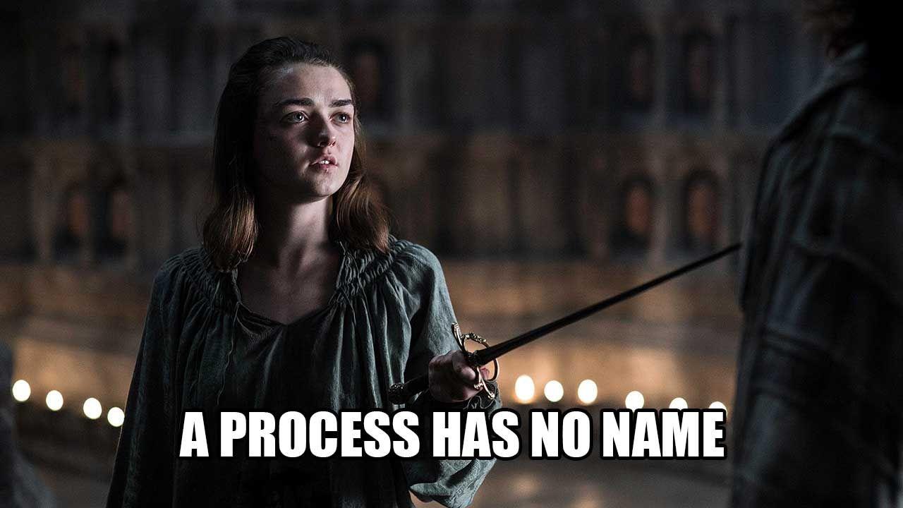 A Process Has No Name